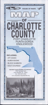 Charlotte County Street Map  - Product Image