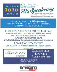 Leadership Charlotte 2020 Raffle 20's Speakeasy Spirits and Yeti Cooler - Product Image